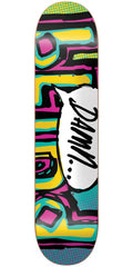 Blind OG Damn Bubble SS Skateboard Deck - Turquoise/Pink/Yellow - 8.0in