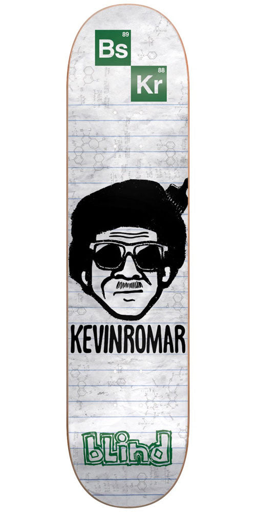 Blind Kevin Romar Chemistry R7 Skateboard Deck - White - 8.0in