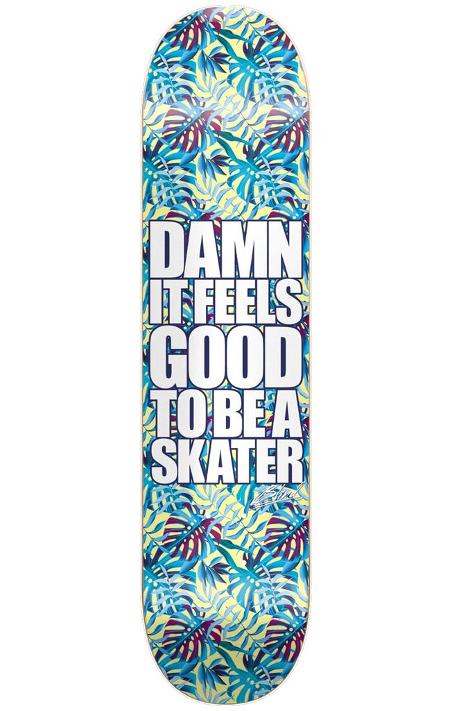 Blind Damn Plantlife HYB Skateboard Deck - Aqua - 8.0in