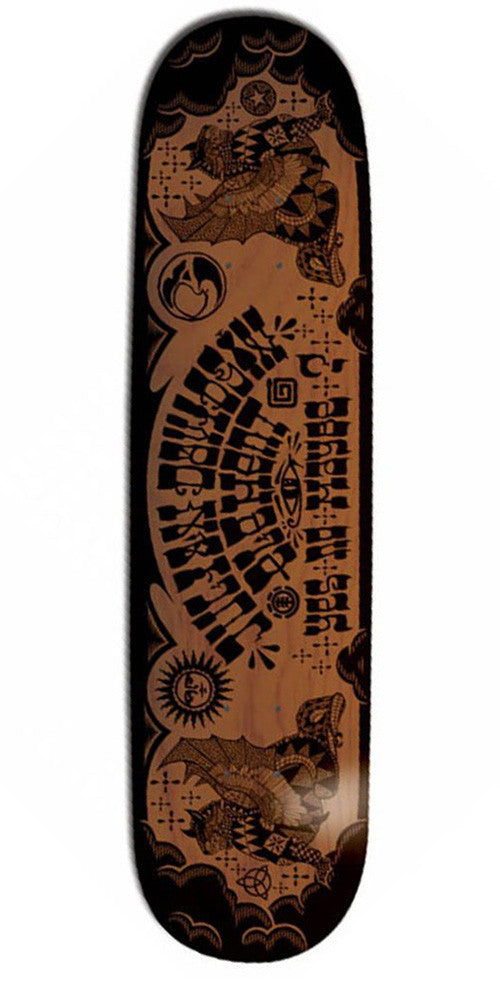 Element Davidson Ju Ju Skateboard Deck - Black/Brown - 8.0