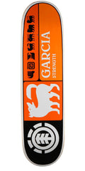 Element Garcia Prismatic Thriftwood Skateboard Deck - Orange - 8.37