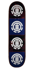 Element Quadrant Foliage Skateboard Deck - Blue/Black - 8.25