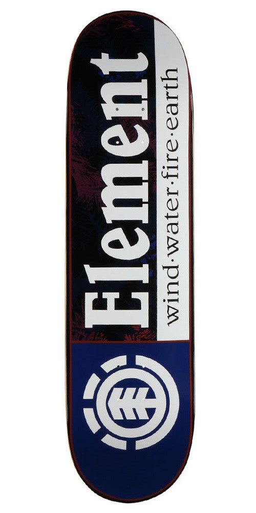 Element Section Foliage Skateboard Deck - Blue/Black - 8.37