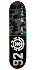 Element Wine Leaf 92 Skateboard Deck - Black/Camo - 8.37