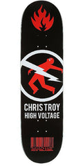 Black Label Chris Troy High Voltage Skateboard Deck - Black/Red - 8.5