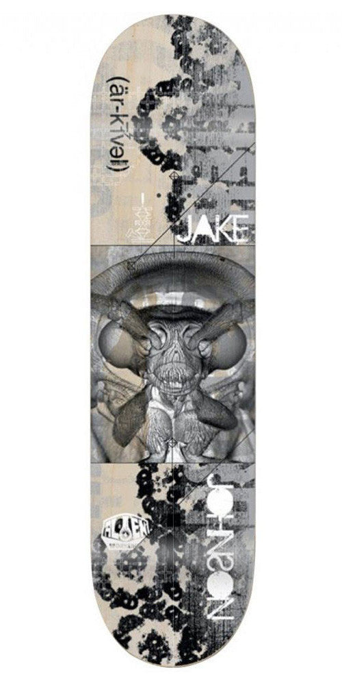 Alien Workshop Johnson Archival Skateboard Deck - 8.125in x 31.75in - Grey