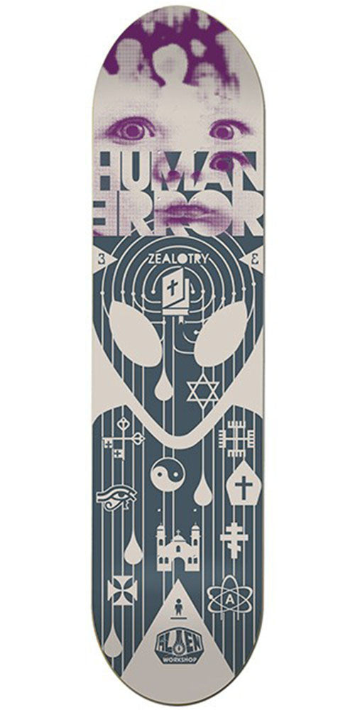 Alien Workshop Human Error Zealotry Skateboard Deck - Grey - 8.125in