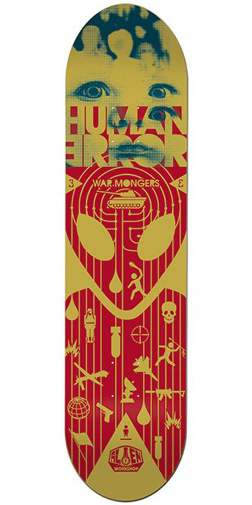 Alien Workshop Human Error Warmongers Skateboard Deck - Yellow - 8.375in