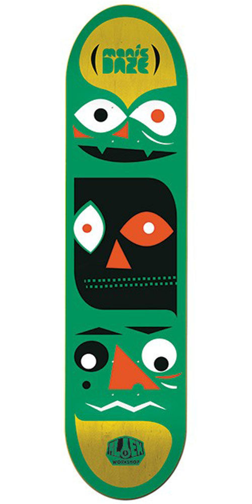 Alien Workshop Manic Daze Small Skateboard Deck - Green - 7.875in