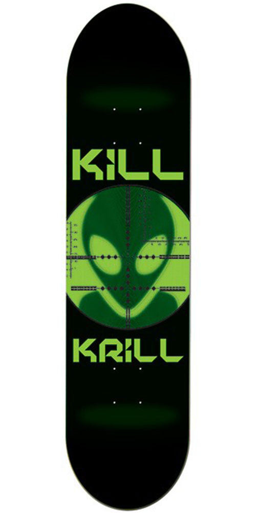 Alien Workshop Kill Krill Small Skateboard Deck - Black - 7.875in