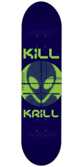 Alien Workshop Kill Krill Medium Skateboard Deck - Blue - 8.25in