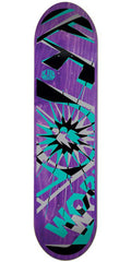 Alien Workshop Glyph Medium Skateboard Deck - Purple - 8.125in