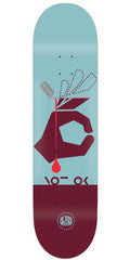Alien Workshop Not Ok Skateboard Deck - Light Blue/Maroon - 8.125in