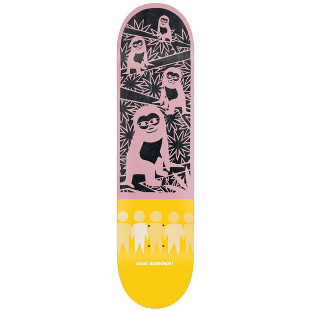 Alien Workshop Papercuts Jungle Skateboard Deck - Pink/Yellow - 8.375in