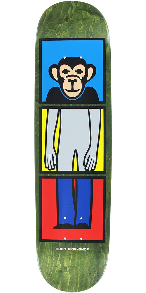 Alien Workshop Matching Link SM Skateboard Deck - Green - 7.875in x 31.25in