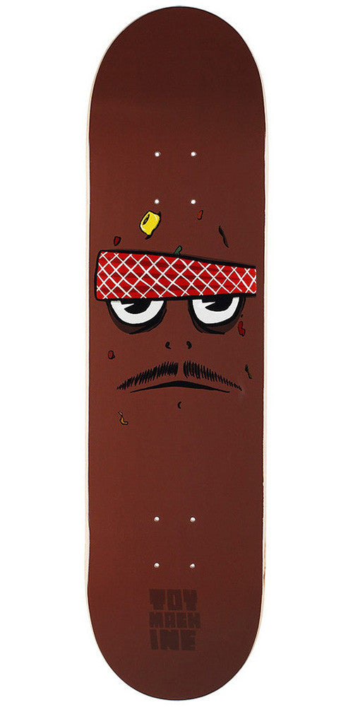 Toy Machine Poo Poo Face Skateboard Deck 8.25 - Brown