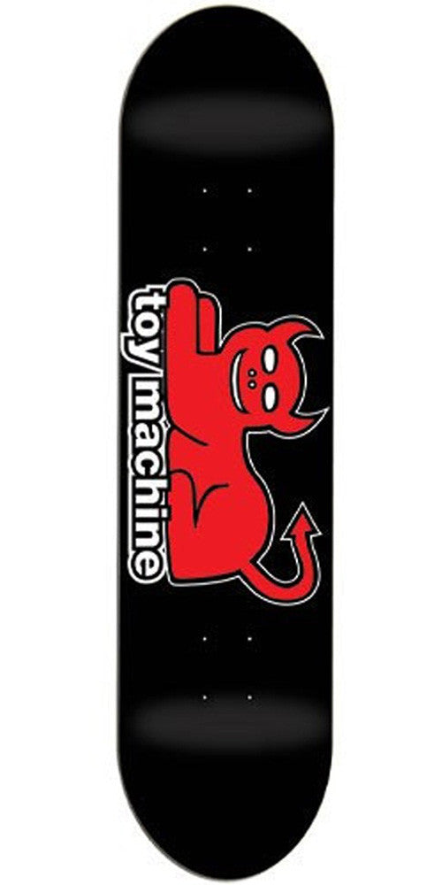 Toy Machine Devil Cat Skateboard Deck - Black/Red - 7.625in
