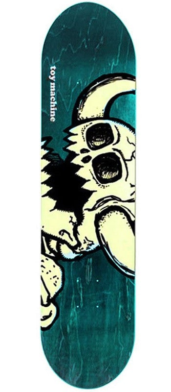 Toy Machine Dead Vice Monster Skateboard Deck 8.25 - White/Assorted Stain