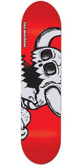 Toy Machine Dead Vice Monster Skateboard Deck 8.125 - White/Assorted