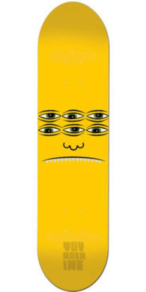 Toy Machine Transmissionator Face Skateboard Deck 8.125- Yellow