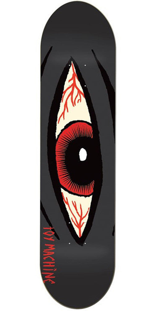 Toy Machine Bloodshot Skateboard Deck - Black - 8.125