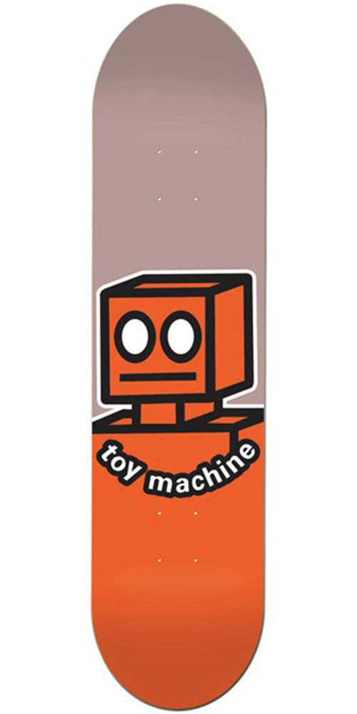 Toy Machine OG Robot Skateboard Deck - Brown/Orange - 8.0in