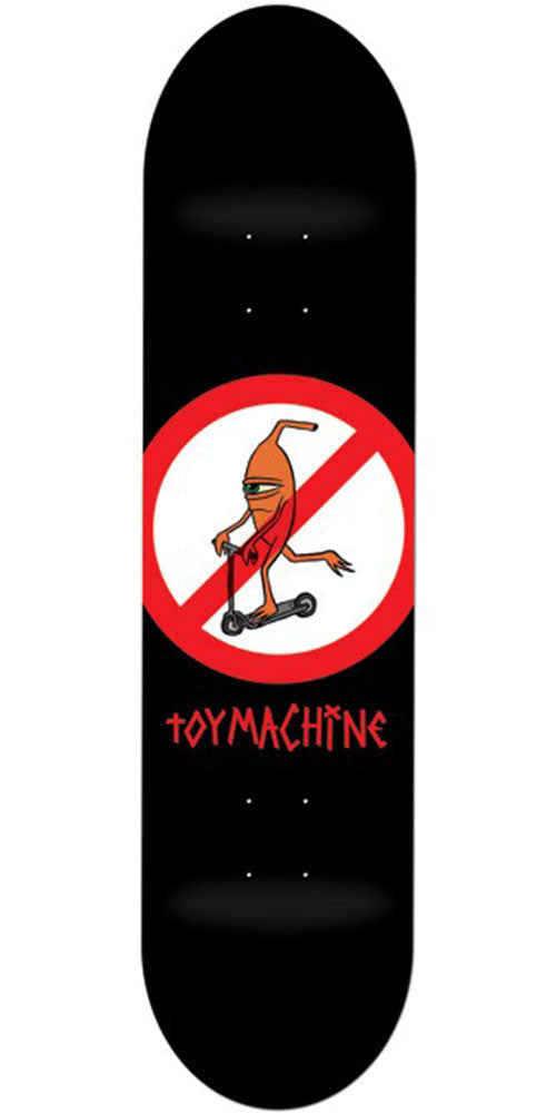 Toy Machine No Scooter Skateboard Deck - Black - 8.25in
