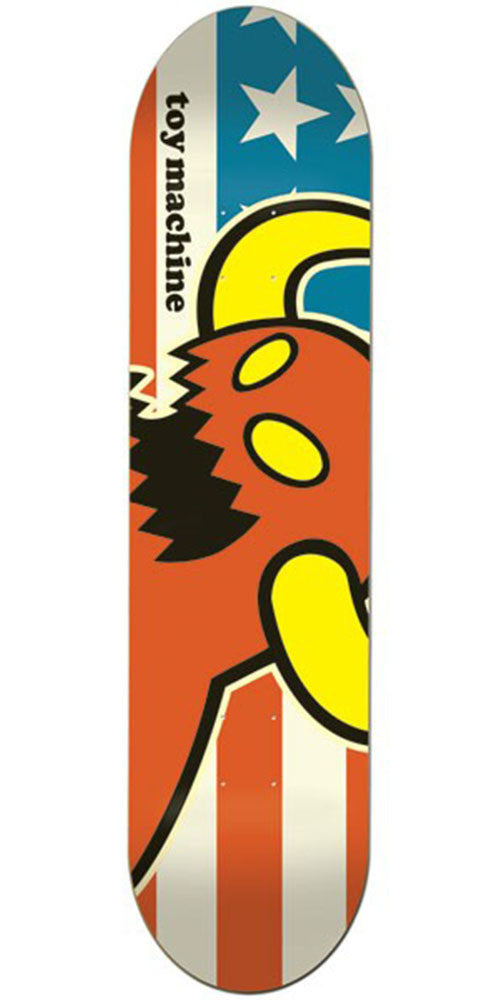 Toy Machine Vice American Monster Skateboard Deck - Red/White/Blue - 8.25