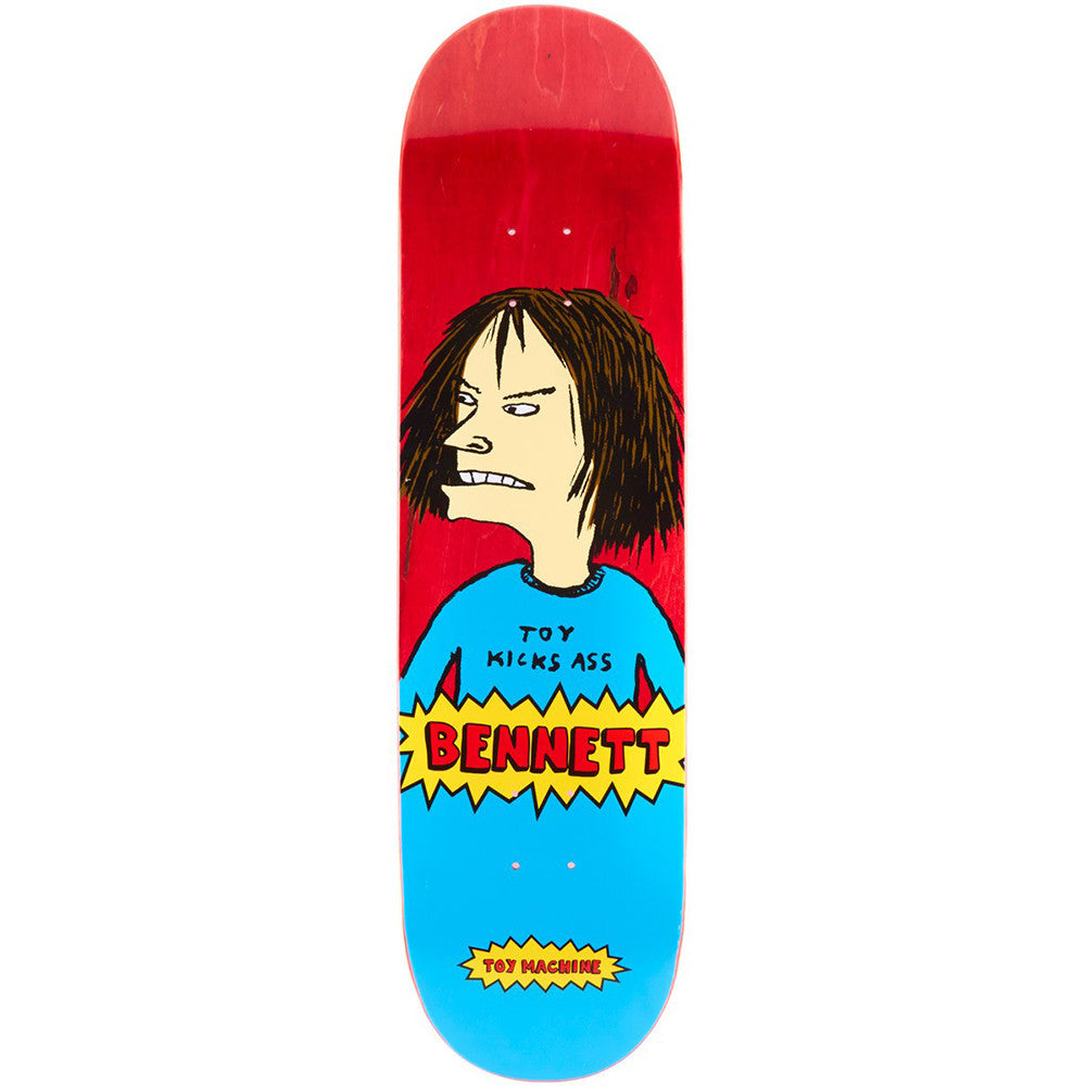 Toy Machine Bennett Beavis Skateboard Deck - Red/Blue - 8.5
