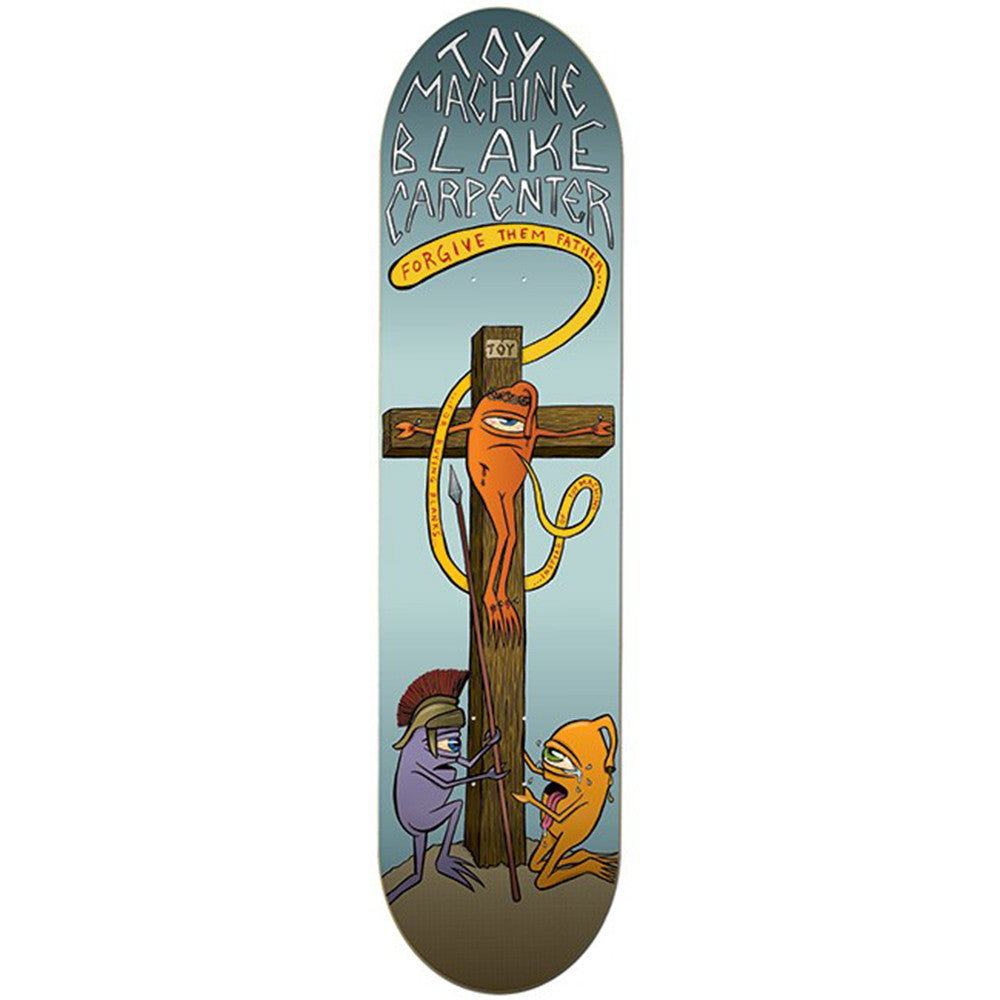 Toy Machine Black Forgiven Skateboard Deck - Grey - 8.25