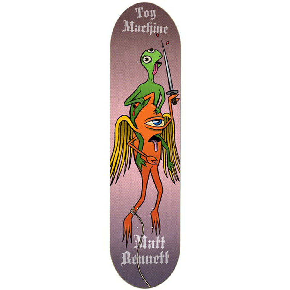 Toy Machine Bennett TB Rider Skateboard Deck - Multi - 8.0