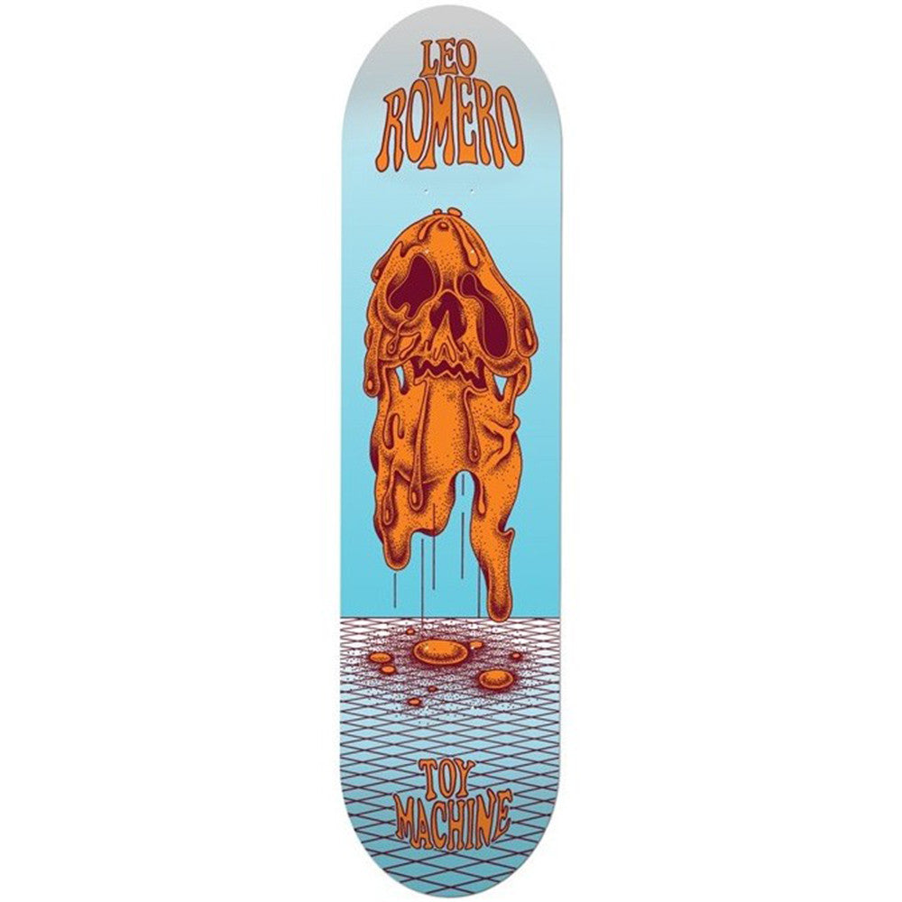 Toy Machine Romero Face Melt Skateboard Deck - Blue/Orange - 8.0