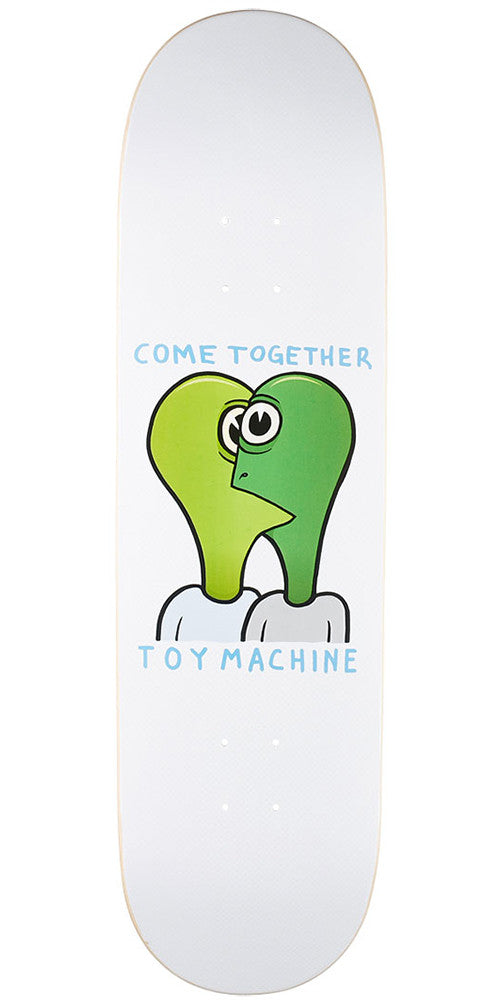 Toy Machine Come Together Skateboard Deck - White - 8.125in x 31.75in