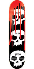 Zero 3 Skull Skateboard Deck 7.625 - Blood/Black