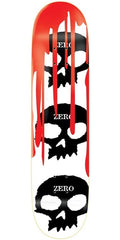 Zero 3 Skull Skateboard Deck 7.5 - Blood/White