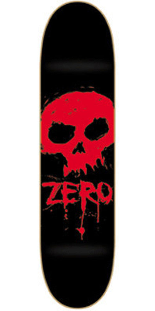 Zero Blood Skull Skateboard Deck - 7.625 - Black/Red