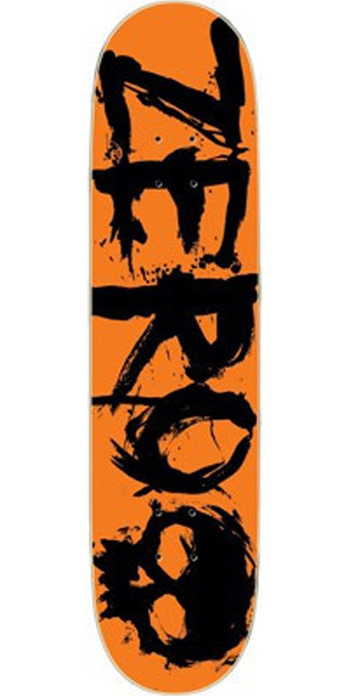 Zero Blood Negative Orange Skateboard Deck 8.375 - Orange/Black