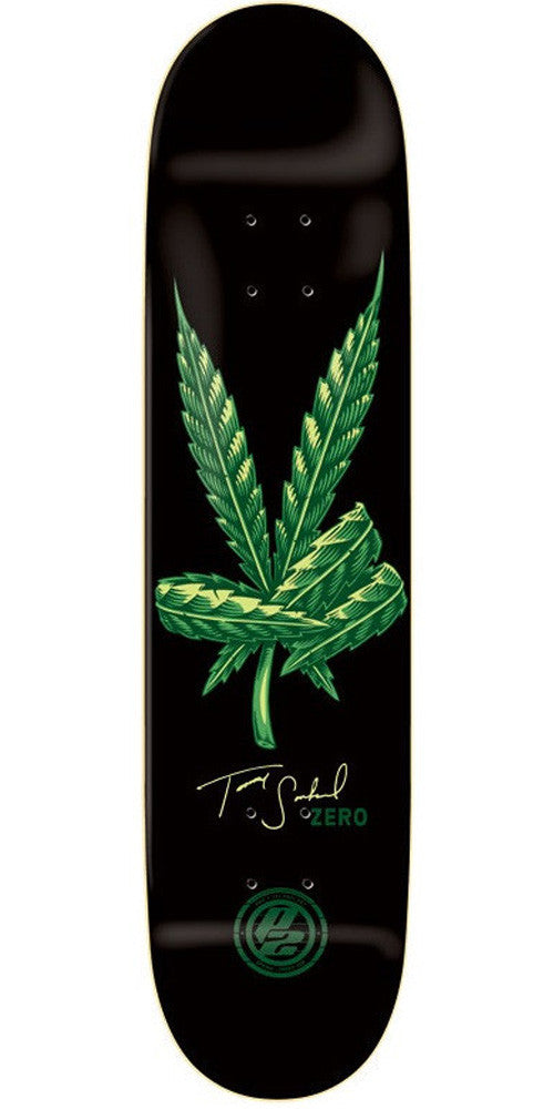 Zero Sandoval Sweet Leaf P2 Skateboard Deck - Black - 8.25in