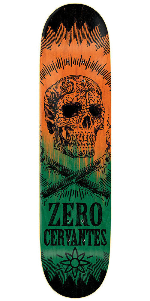 Zero Tony Cervantes Deliverance Series R7 Skateboard Deck - Orange/Green - 8.25
