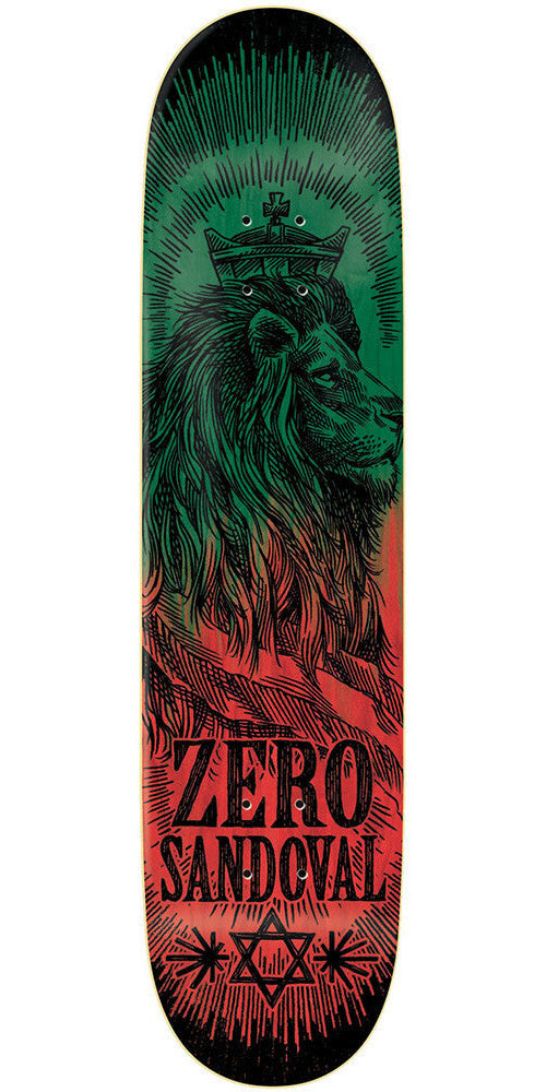 Zero Tommy Sandoval Deliverance Series R7 Skateboard Deck - Green/Red - 8.13