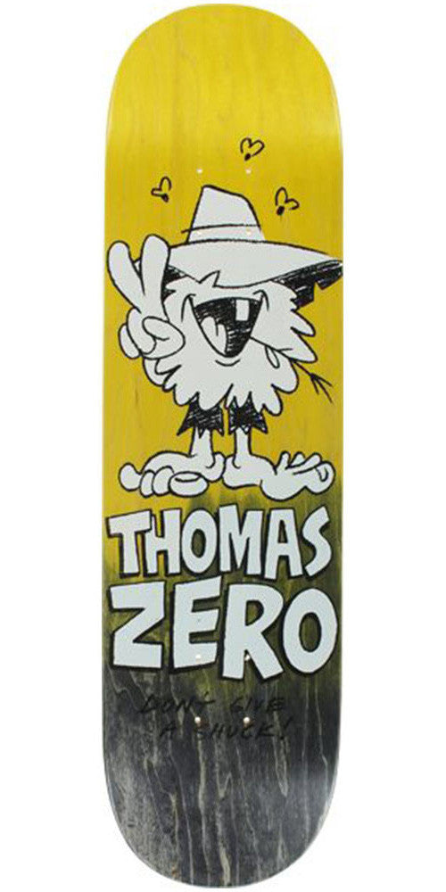 Zero Thomas Don't Give A Shuck Skateboard Deck - Yellow/Black - 8.125
