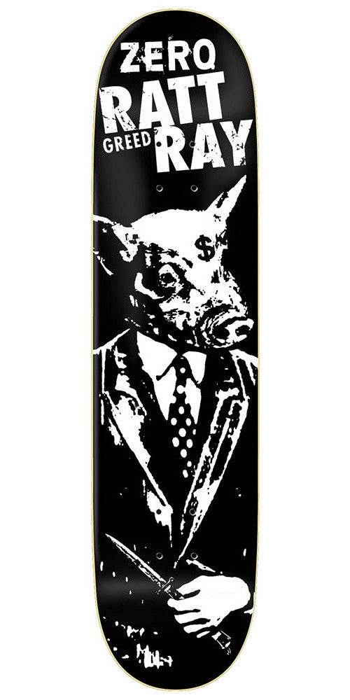 Zero Rattray Greed R7 Skateboard Deck - Black - 8.25