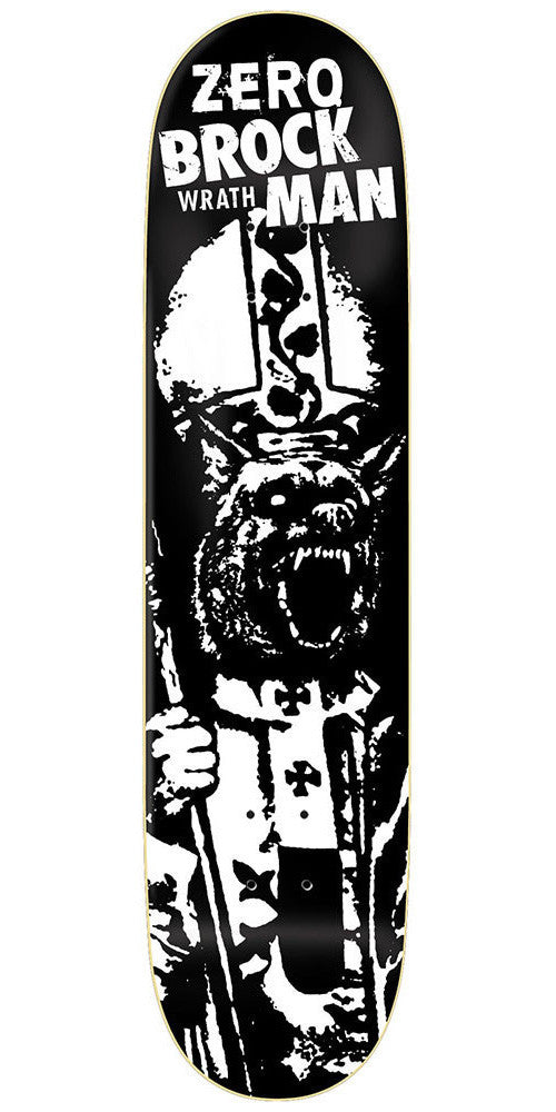 Zero Brockman Wrath R7 Skateboard Deck - Black - 8.375
