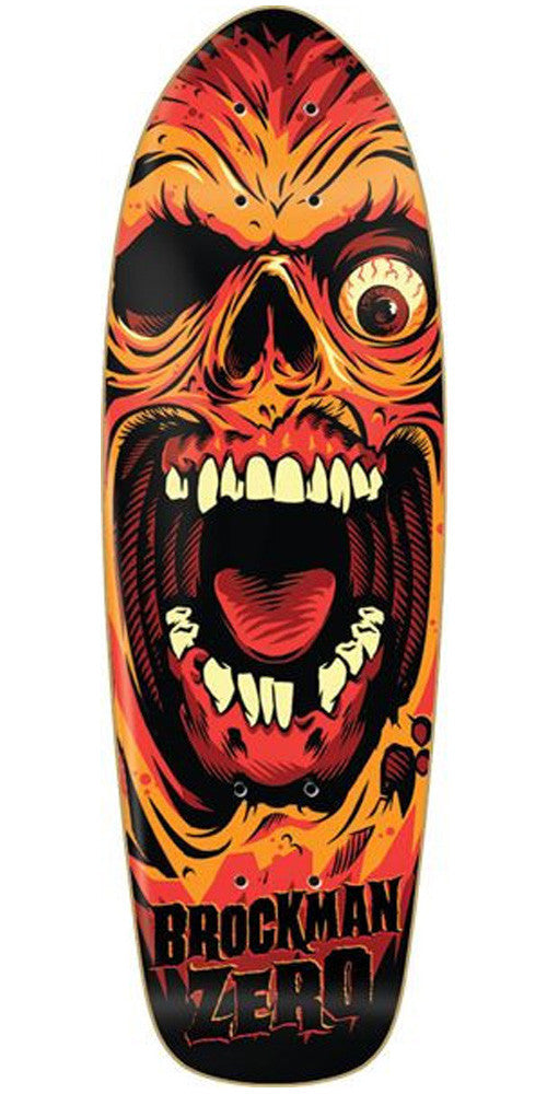 Zero James Brockman Death Face Skateboard Deck - Black/Orange - 8in x 27in