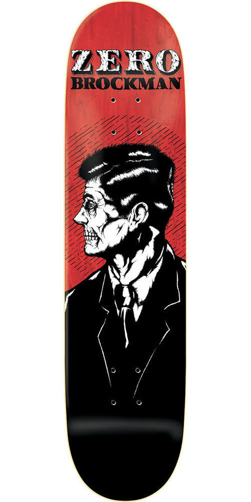 Zero James Brockman Dead Presidents R7 Skateboard Deck - Red/Black - 8.0