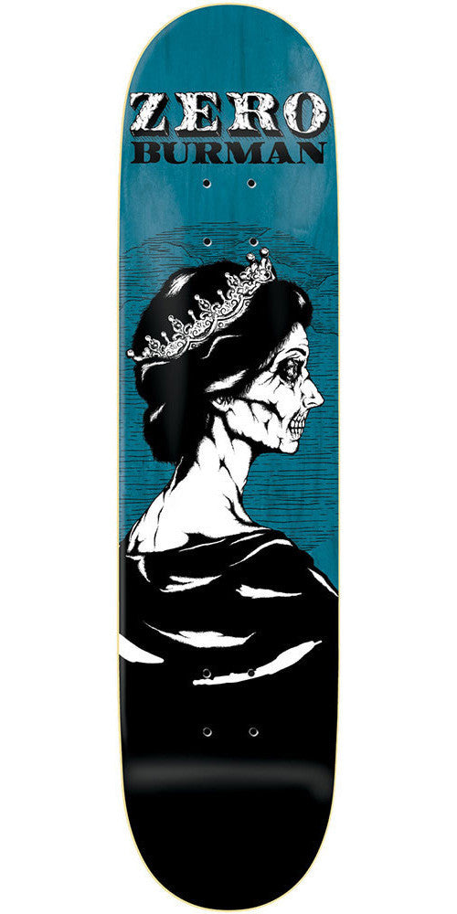 Zero Dane Burman Dead Presidents R7 Skateboard Deck - Blue/Black - 8.375