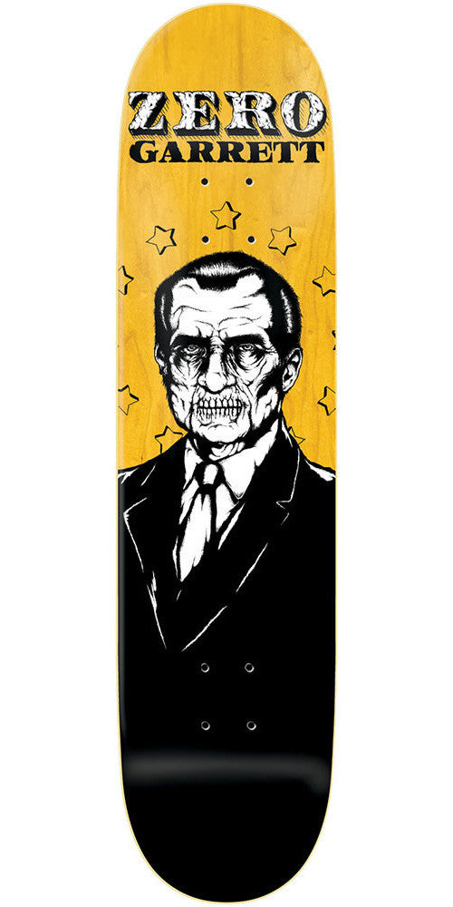 Zero Garrett Hill Dead Presidents R7 Skateboard Deck - Yellow/Black - 8.25
