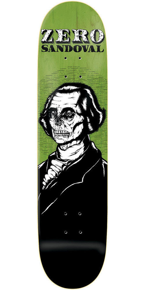 Zero Tommy Sandoval Dead Presidents R7 Skateboard Deck - Green/Black - 8.125