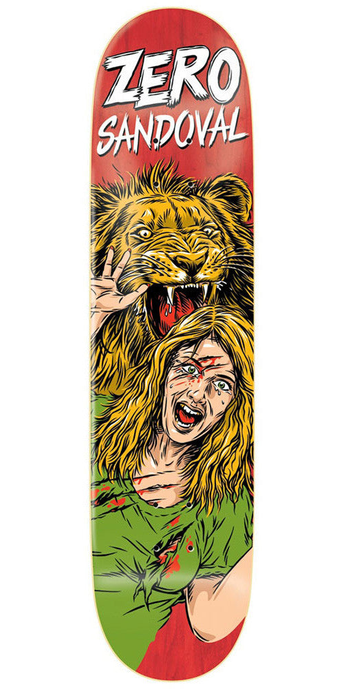 Zero Tommy Sandoval Animal Attack Impact Light Skateboard Deck - Red - 8.0
