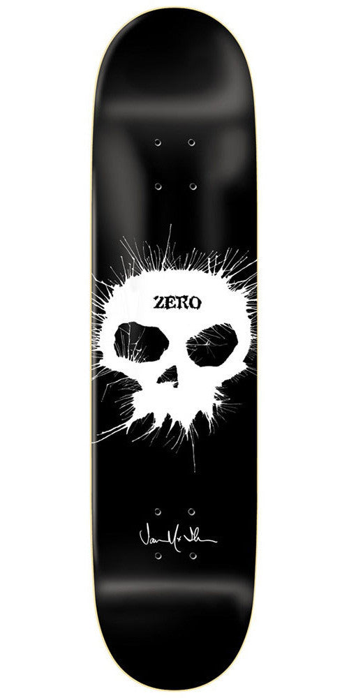 Zero Jamie Thomas Single Skull Impact Light Skateboard Deck - Black - 8.25
